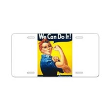 We Can Do It, Rosie the Riveter Aluminum License P