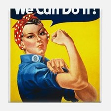 We Can Do It, Rosie the Riveter Tile Coaster