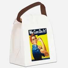 We Can Do It, Rosie the Riveter Canvas Lunch Bag