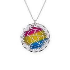 Pansexual Pride Pentacle Necklace