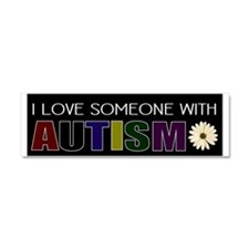 I love someone autistic Car Magnet 10 x 3