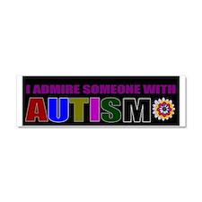 admiring autistic child Car Magnet 10 x 3