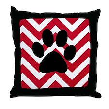 red, white, black pa Throw Pillow