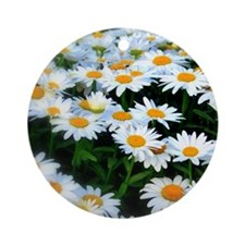 Field of Daisies Round Ornament