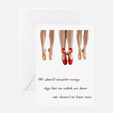 Pointe Dance Quote Greeting Card