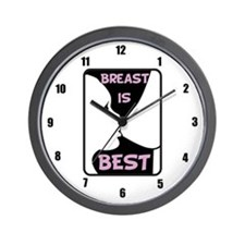 Breast is Best Wall Clock