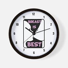 Breast is Best Wall Clock