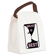 Breast is Best Canvas Lunch Bag