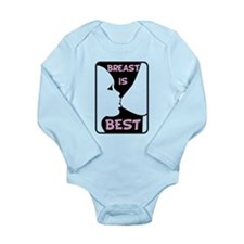 Breast is Best Long Sleeve Infant Bodysuit