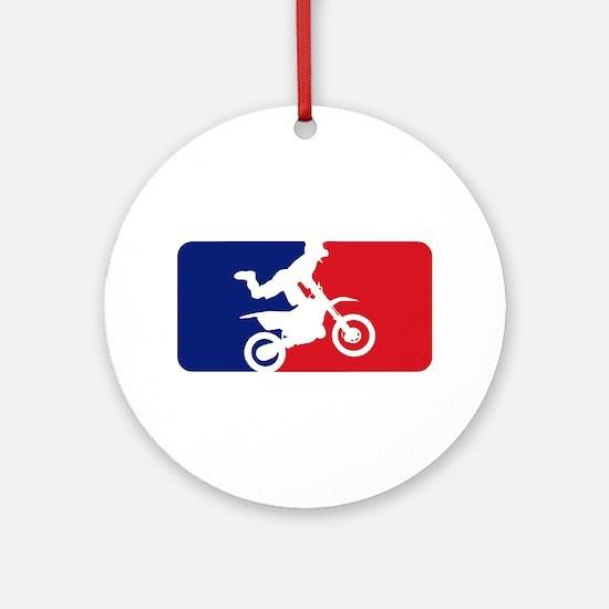 Major League Motocross Ornament (Round)