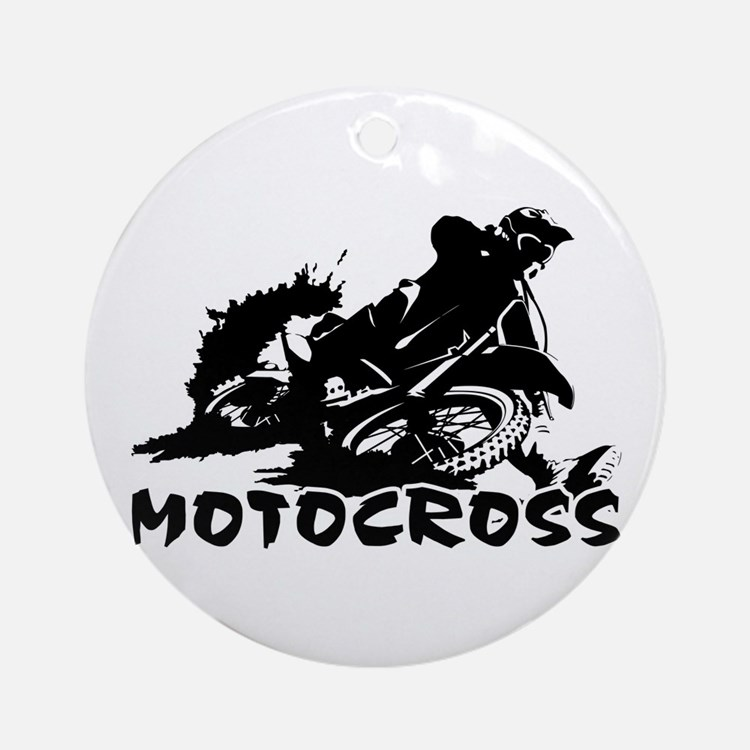Motocross Ornament (Round)