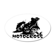 Motocross 20x12 Oval Wall Decal