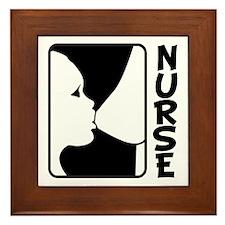 Nursing Baby Framed Tile