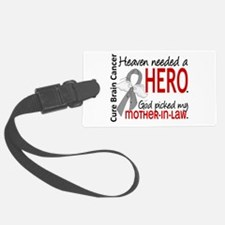 Brain Cancer Heaven Needed Hero Luggage Tag