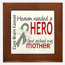 Brain Cancer Heaven Needed Hero 1.1 Framed Tile