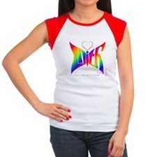 Lilith Rainbow Butterfly Women's Cap Sleeve T-Shir
