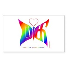 Lilith Rainbow Butterfly Rectangle Decal