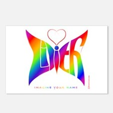 Lilith Rainbow Butterfly Postcards (Package of 8)