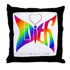 Lilith Rainbow Butterfly Throw Pillow