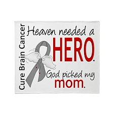 Brain Cancer Heaven Needed Hero 1.1 Throw Blanket