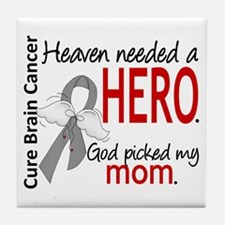Brain Cancer Heaven Needed Hero 1.1 Tile Coaster