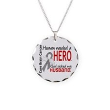 Brain Cancer Heaven Needed H Necklace Circle Charm