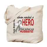 Brain cancer in memory Canvas Bags