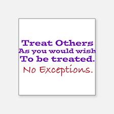 No Exceptions Sticker
