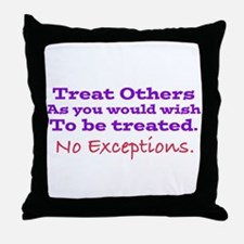 No Exceptions Throw Pillow