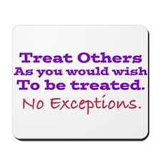 No Exceptions Mousepad