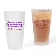 No Exceptions Drinking Glass