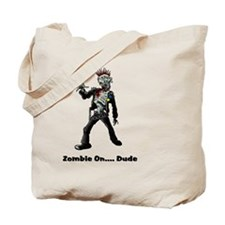 Zombie On Dude Tote Bag