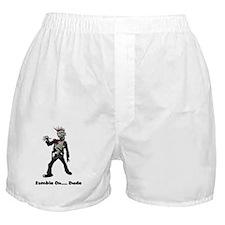 Zombie On Dude Boxer Shorts