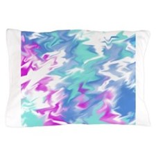 Raspberry Aqua Smear Pillow Case