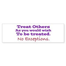 No Exceptions large type Bumper Bumper Stickers