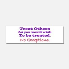 No Exceptions large type Car Magnet 10 x 3