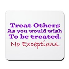 No Exceptions large type Mousepad