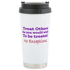 No Exceptions large type Travel Mug