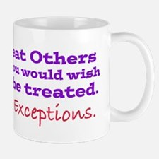 No Exceptions large type Mugs