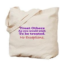No Exceptions large type Tote Bag