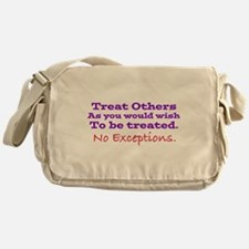 No Exceptions large type Messenger Bag