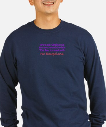 No Exceptions large type Long Sleeve T-Shirt