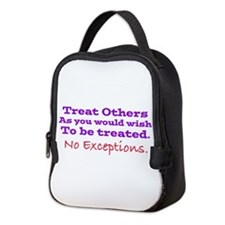 No Exceptions Large Type Neoprene Lunch Bag