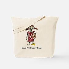 I Love My Deady Bear Tote Bag