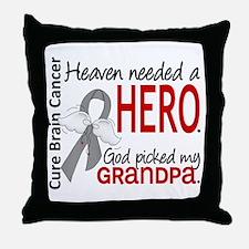 Brain Cancer Heaven Needed Hero 1.1 Throw Pillow