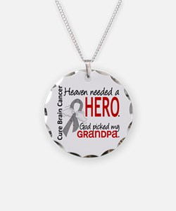 Brain Cancer Heaven Needed H Necklace