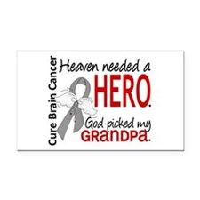 Brain Cancer Heaven Needed He Rectangle Car Magnet