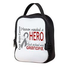 Brain Cancer Heaven Needed Hero Neoprene Lunch Bag