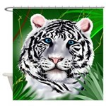White Tiger-Jungle Shower Curtain