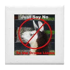 No Drama Llama Tile Coaster